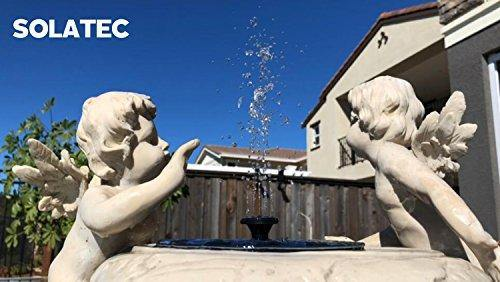 Solatec Solar Fountain Black