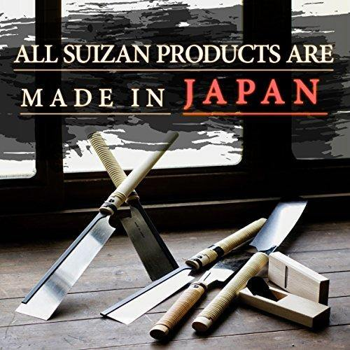 SUIZAN Japanese Hand Saw 6 Inch Dozuki Dovetail Pull Saw for Woodworking