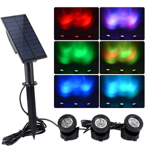 WishHome Solar Pond Lights Outdoor