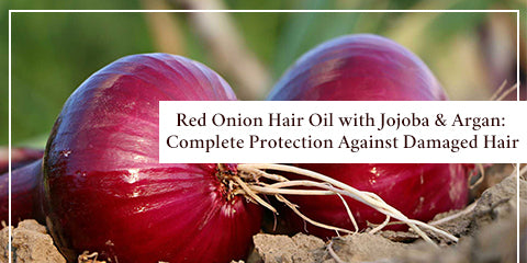 Red Onion Hair Oil with Jojoba and  Argan Complete Protection Against Damaged Hair
