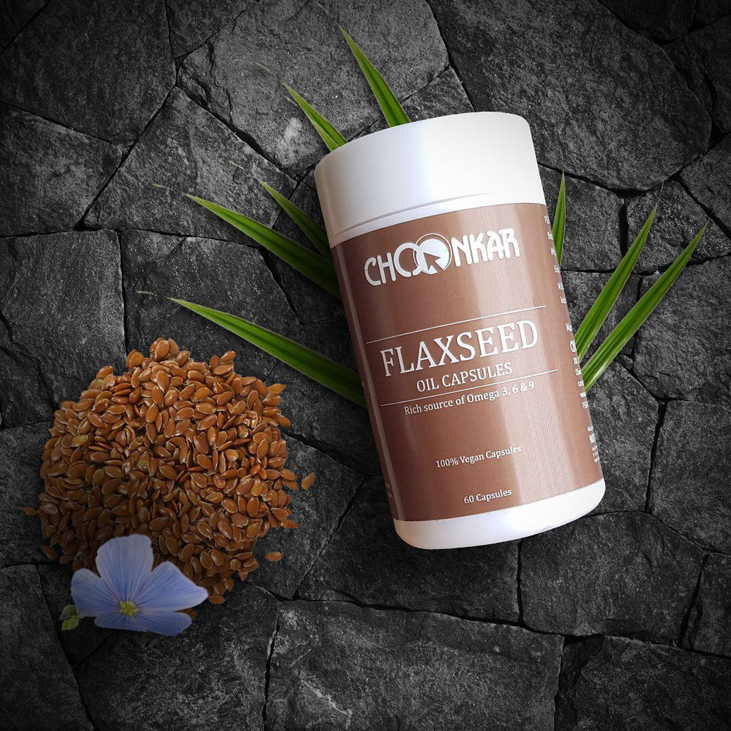 Buy Flaxseed Oil Omega 3 6 9 Veg 500 Mg At Best Prices Choonkar