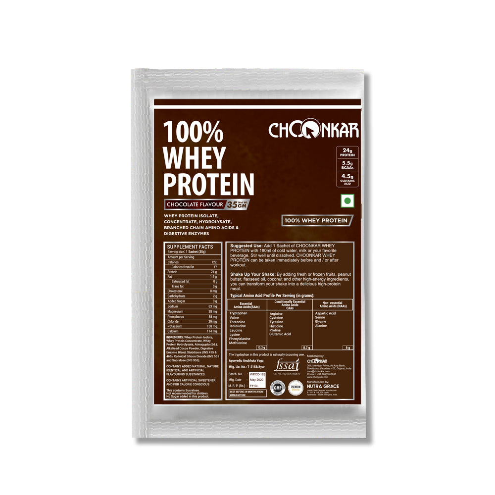 Choonkar 100% Whey Protein Chocolate Flavour 35gm