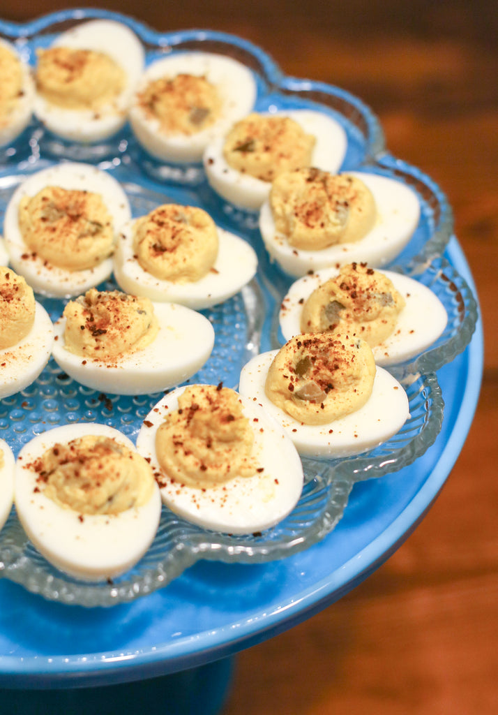 10 Ways to Use Vesta Dry Hot Sauce - Deviled Eggs