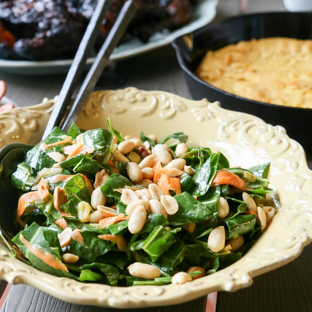 NC Made Cookbook Club: Deep Run Roots / Collard, Carrot, and Raisin Salad