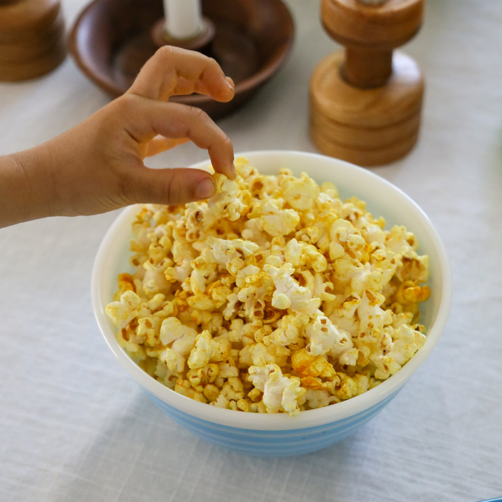 NC Made Cookbook Club: Popcorn with Turmeric, Black Pepper & Nutritional Yeast