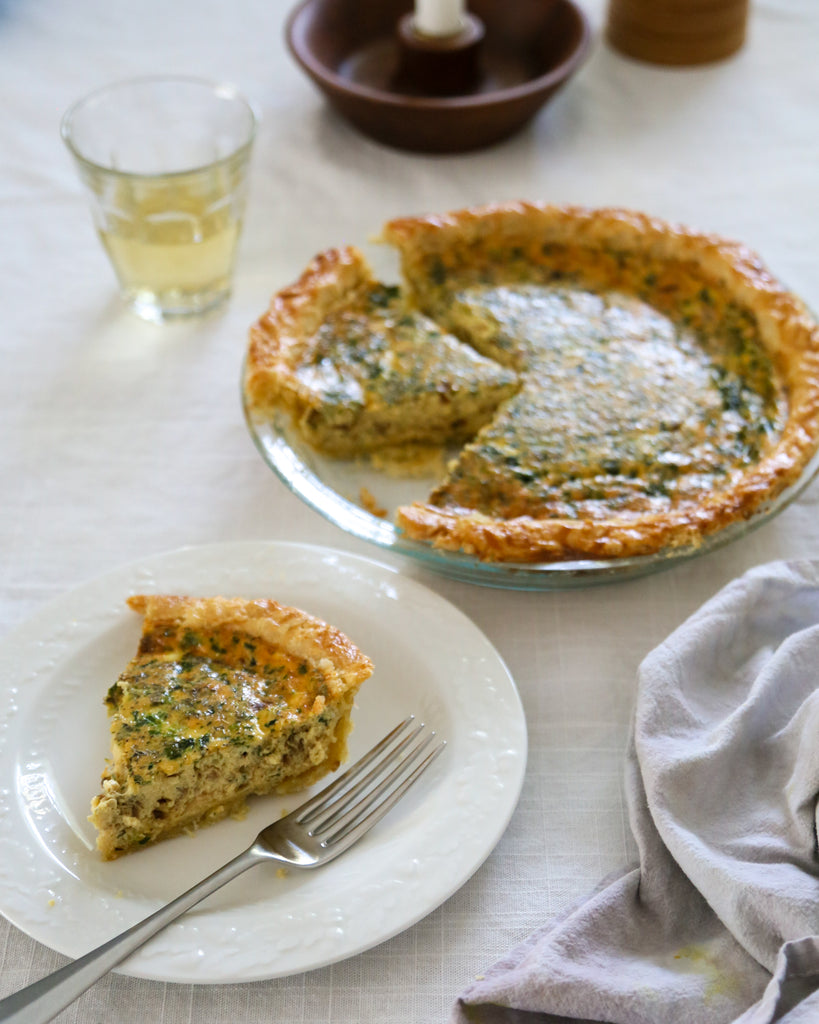 NC Made Cookbook Club: Close-up Quiche