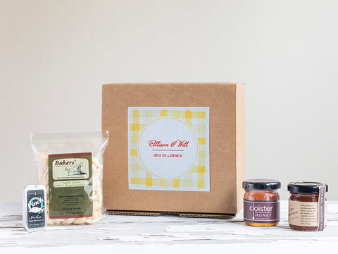 Wedding Favor & Welcome Gift Box | Gingham