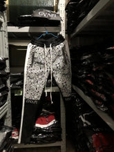 Load image into Gallery viewer, Paisley print black fusion track pants WP009