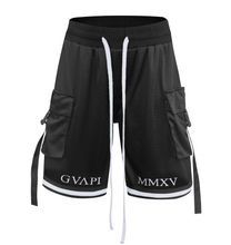 Load image into Gallery viewer, White embroidery black Basketball Shorts  WP012
