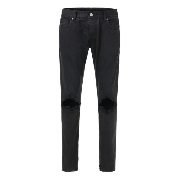 Destroyed Denim Black Jeans WP103