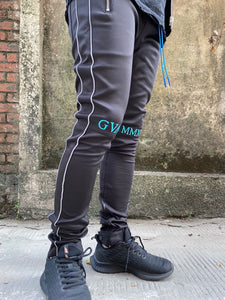 Black Reflective Track Pants