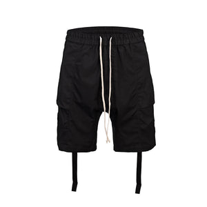 BLACK CARGO SHORTS WITH STRIPS-  WP110