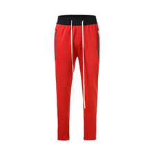 Load image into Gallery viewer, Red with White Side Stripe Track Pants V1 WP094