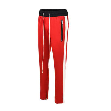 Red with White Side Stripe Track Pants V1 WP094