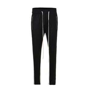 Black with White Side Stripe Track Pants V2 WP098