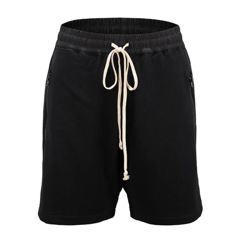 Drop Crotch Black Shorts  WP100