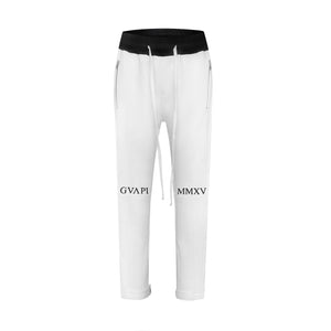 white U black fusion track pants WP008