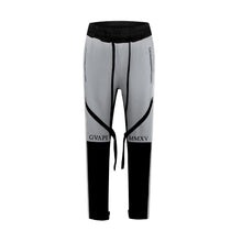 Load image into Gallery viewer, grey ribbons black fusion track pants WP010