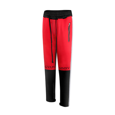 red black grey side fusion track pants WP011
