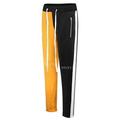 gold and black fusion track pants WP002