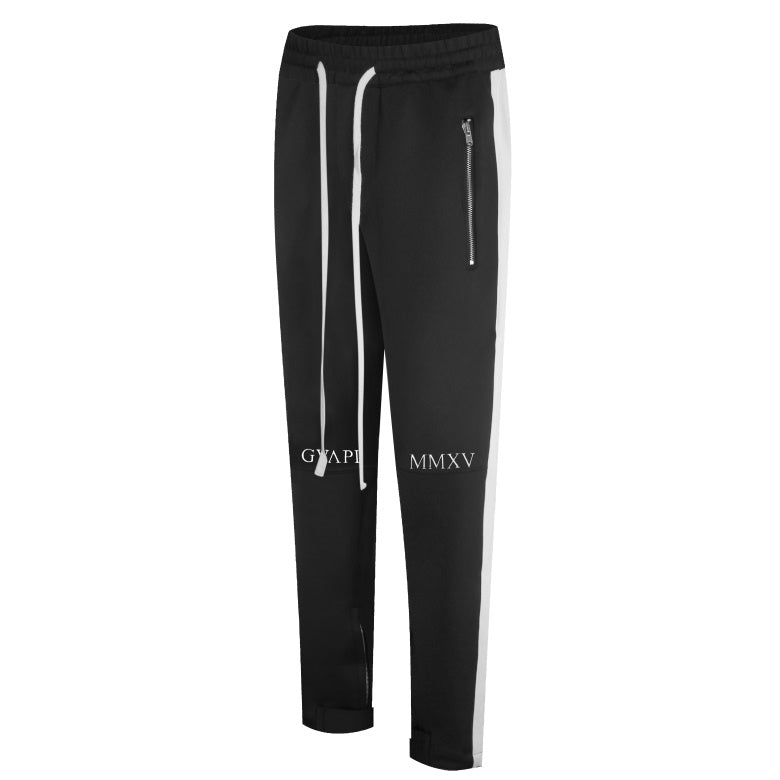 black and black fusion track pants WP006
