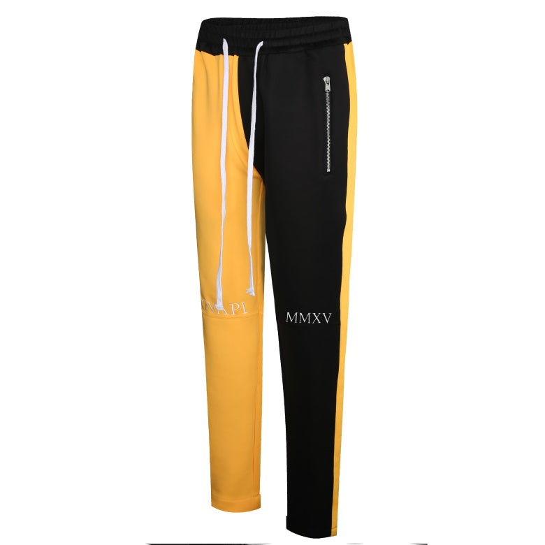 yellow and black fusion track pants WP003