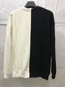 white and black fusion sweater WP019