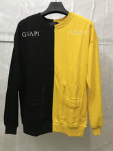Load image into Gallery viewer, yellow and black fusion sweater WP020