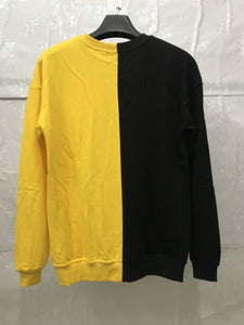 yellow and black fusion sweater WP020