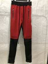 Load image into Gallery viewer, red black grey side fusion track pants WP011