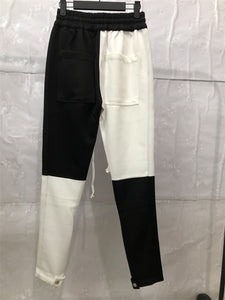 white X black fusion track pants WP007