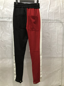 Red And Black Fusion Track Pants WP084