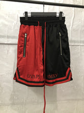 Load image into Gallery viewer, red and black fusion Basketball Shorts  WP015
