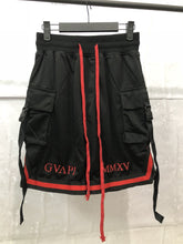 Load image into Gallery viewer, red embroidery black Basketball Shorts  WP013