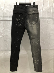 Grey Black Denim Fusion Jeans WP023
