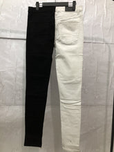 Load image into Gallery viewer, White And Black Denim Fusion Jeans WP024