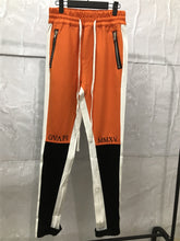 Load image into Gallery viewer, Orange Black Track Pants WP076