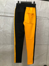 Load image into Gallery viewer, yellow and black fusion track pants WP003
