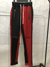 Load image into Gallery viewer, Black and Red Fusion Track Pants WP082