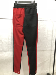 Black and Red Fusion Track Pants WP082