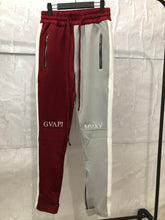 Load image into Gallery viewer, wine and grey fusion track pants WP004