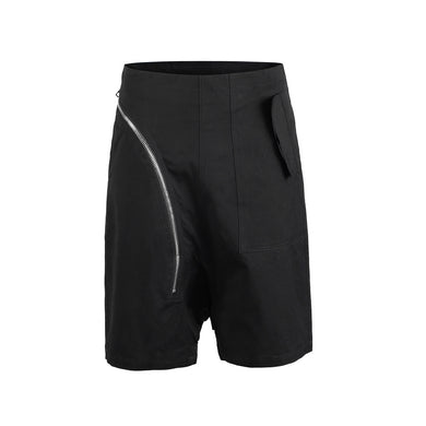 BLACK ZIPPER SHORTS-  WP112