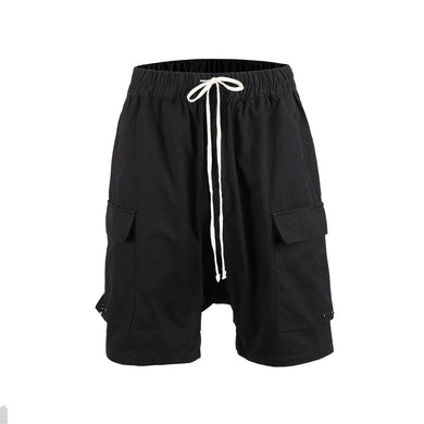 BLACK CARGO SHORTS-  WP111