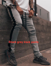 Load image into Gallery viewer, Dark Grey With Black Track Pants WP120