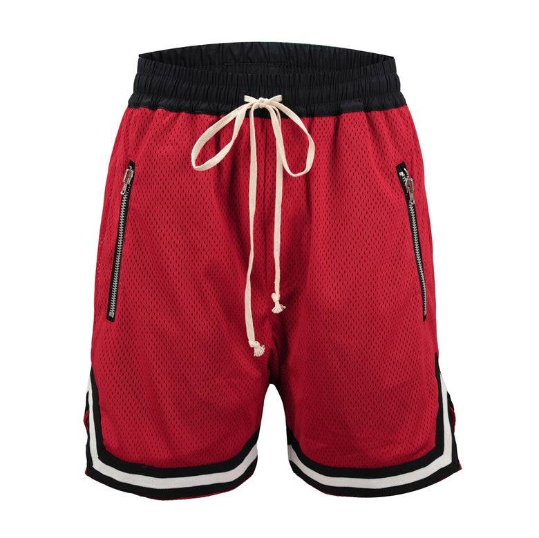 red Basketball Shorts  WP048