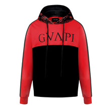 Load image into Gallery viewer, red black fusion Paisley Hoodies  WP017