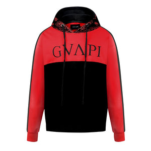red black fusion Paisley Hoodies  WP017