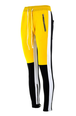 yellow and black fusion track pants WP027