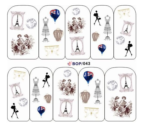Antique Water Decal BOP043