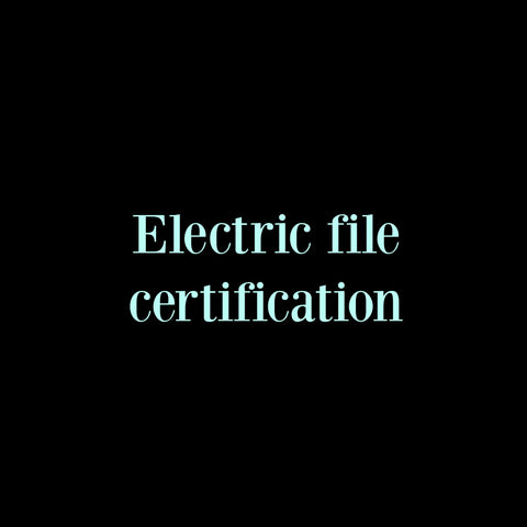 Electric File Certification and Accuracy Training